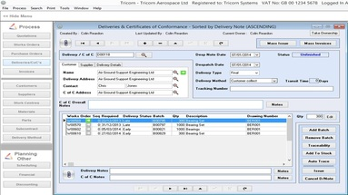 Tricorn Stock Control Software
